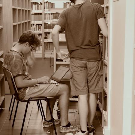 Il lavoro in biblioteca